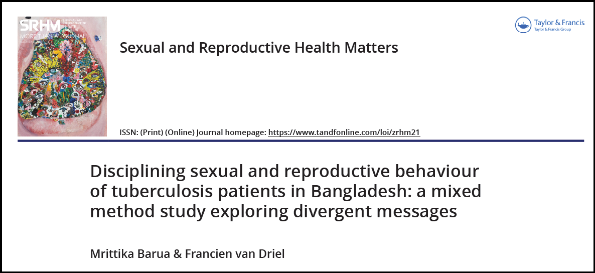 Disciplining sexual and reproductive behaviour of tuberculosis patients in Bangladesh: a mixed method study exploring divergent messages